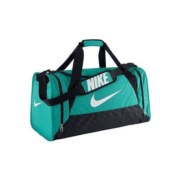 Nike Ba4829 403 Brasilia 6 Medium Duffel Bag Color Aqua Black Sports Liked On Polyvore Featuring Bags Duffle Bag Nike Nike Duffle Bag Medium Bags Bags