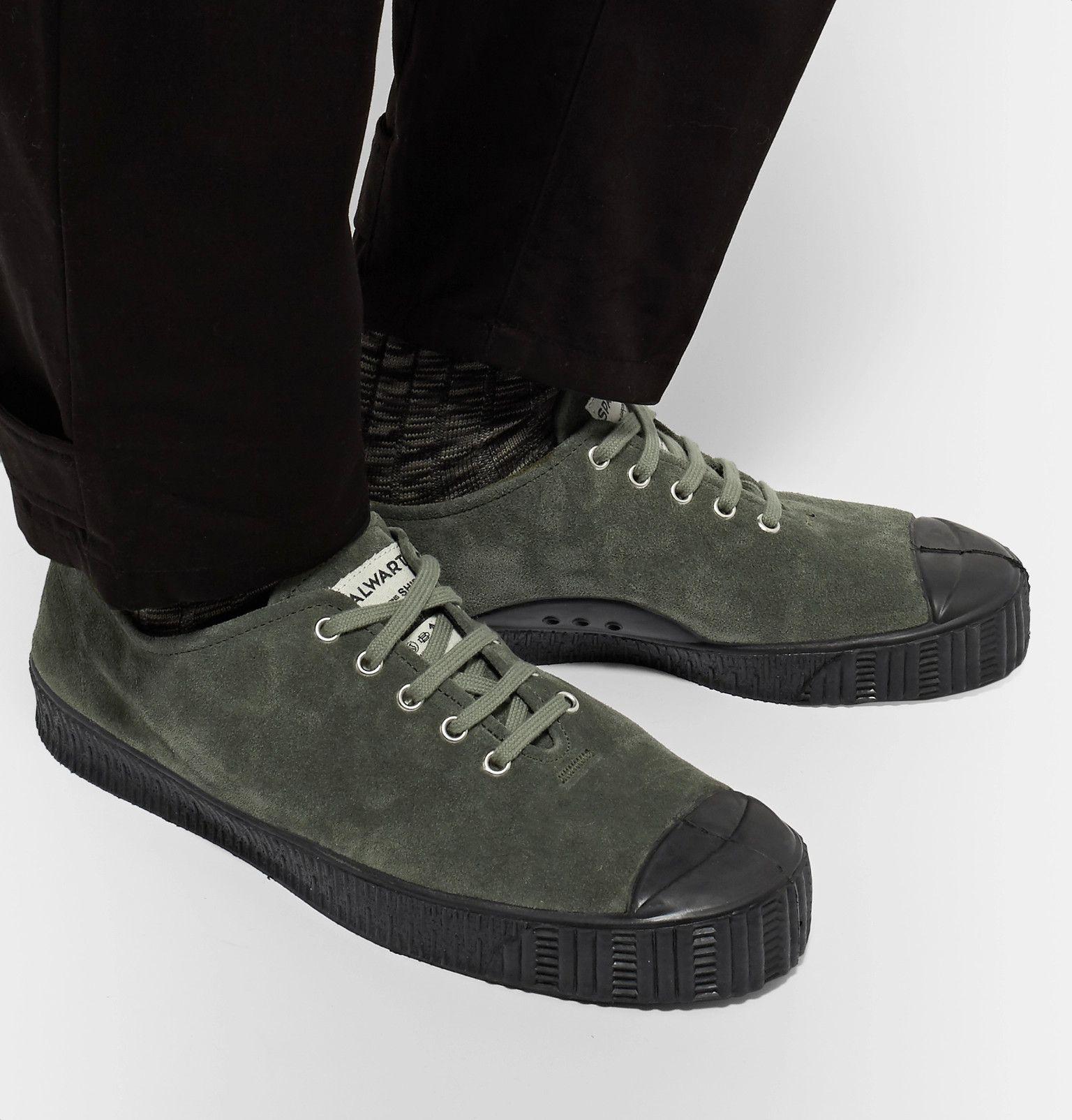 173fad4d8e Comme des Garçons SHIRT - + Spalwart Special V Low Rubber-Trimmed Suede  Sneakers