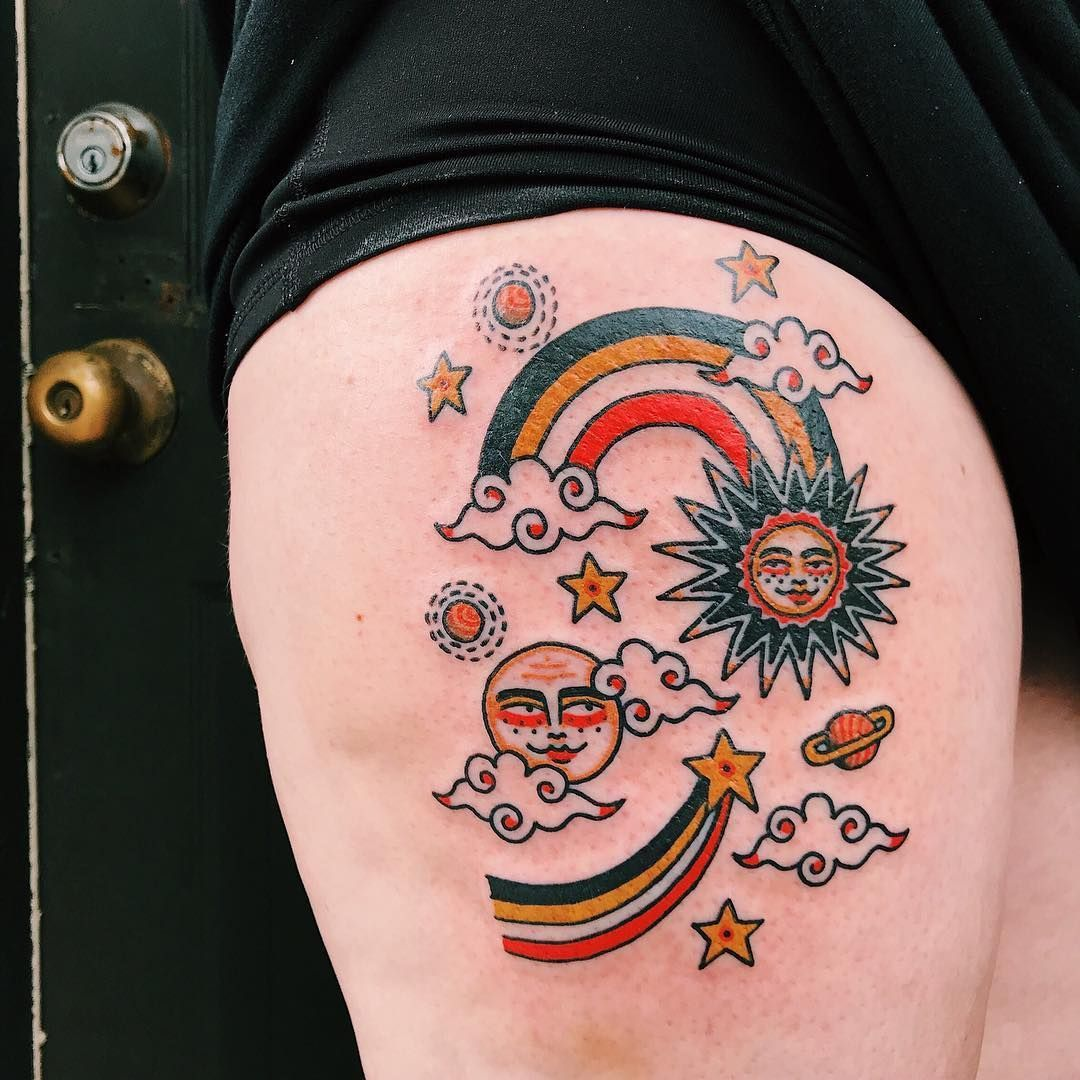 Tattoo old school: 91 photos for you to fall in love with technique