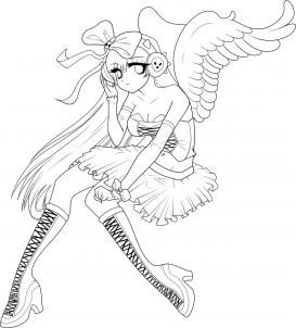 How To Draw An Angel Girl Draw An Anime Angel Anime Angel Step By Step Anime People Anime Angel Coloring Pages Chibi Coloring Pages Cartoon Coloring Pages