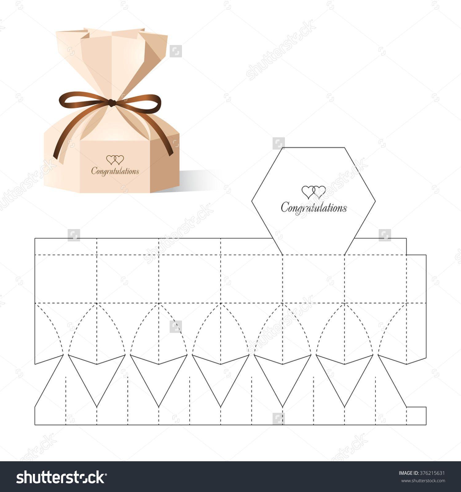 Retail Box with Blueprint Template | cajas | Pinterest | Cajas ...
