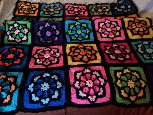 Stained Glass Afghan Square Tutorial Crochet Squares Granny