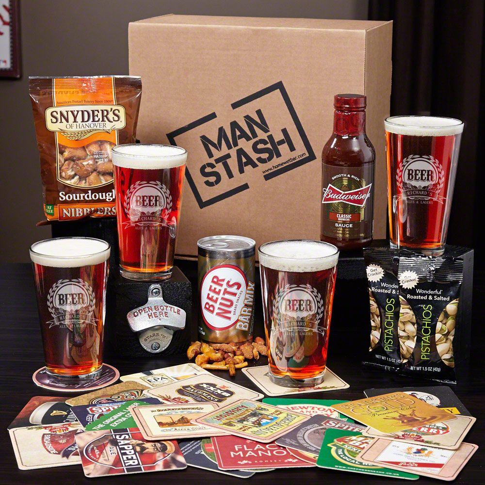 Beer Drinker Man Stash Gift Boxed Set & Brew Barrel Beer Making Kit and Engraved Beer Steins | Home DIY ...