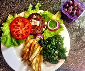 21 Day Fix Recipes: Goat Cheese Burgers