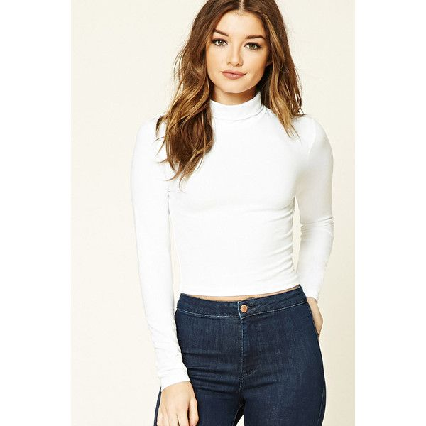 Forever21 Cropped Knit Turtleneck 790 Liked On Polyvore