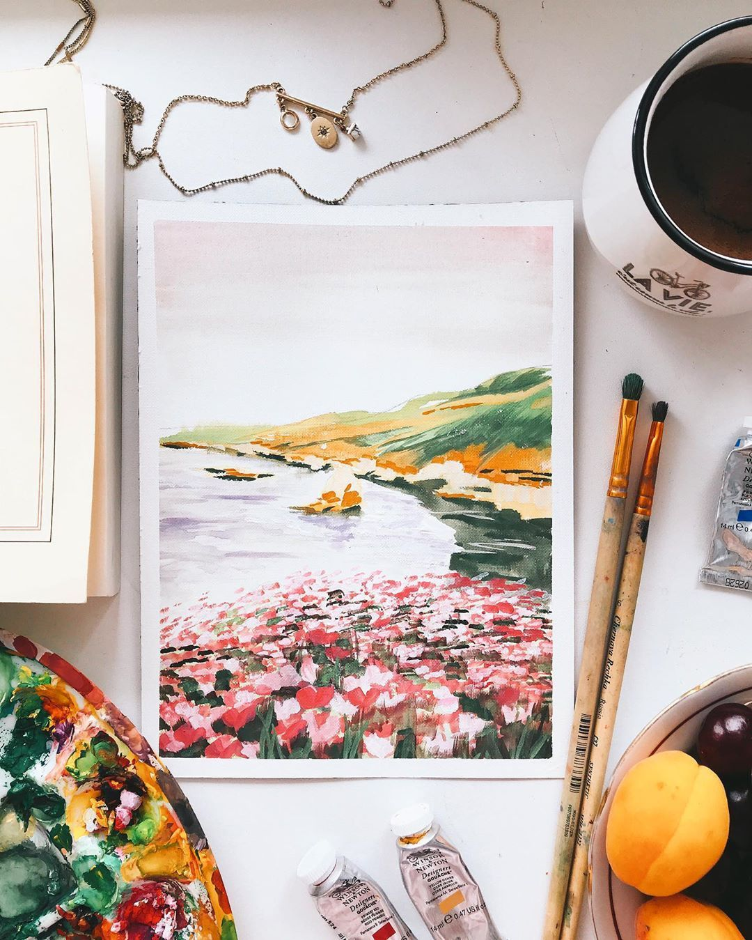 The Seaside Calm Art Print by ginnykz