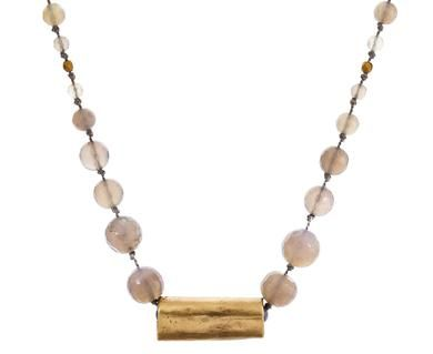 Julie Cohn - Gray Agate and Bronze Eclipse Necklace in New Necklaces at TWISTonline