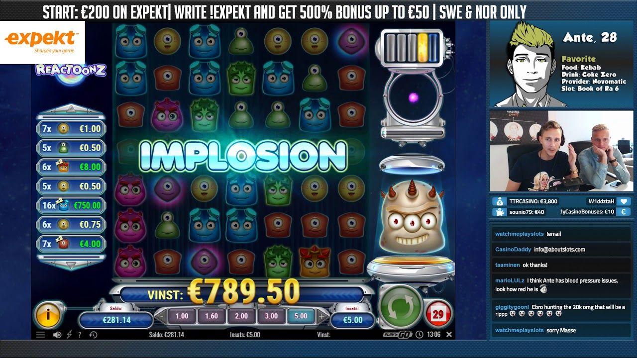 BIG WIN!!!! Reactoonz Big win Casino Bonus Round