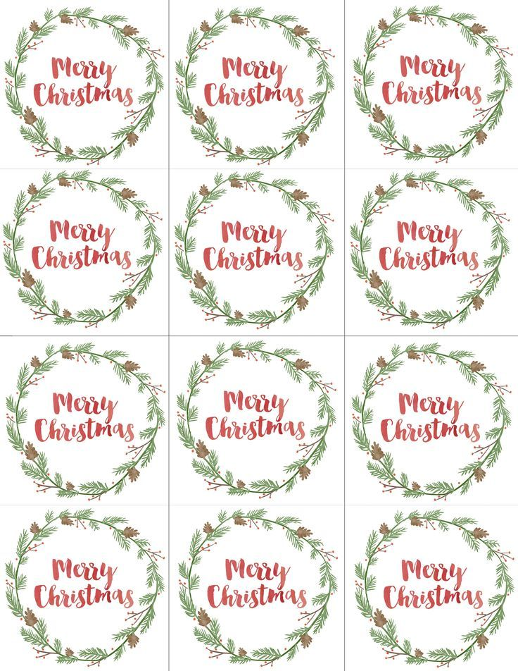 Hand Painted Gift Tags FREE Printable Recipes Christmas tag