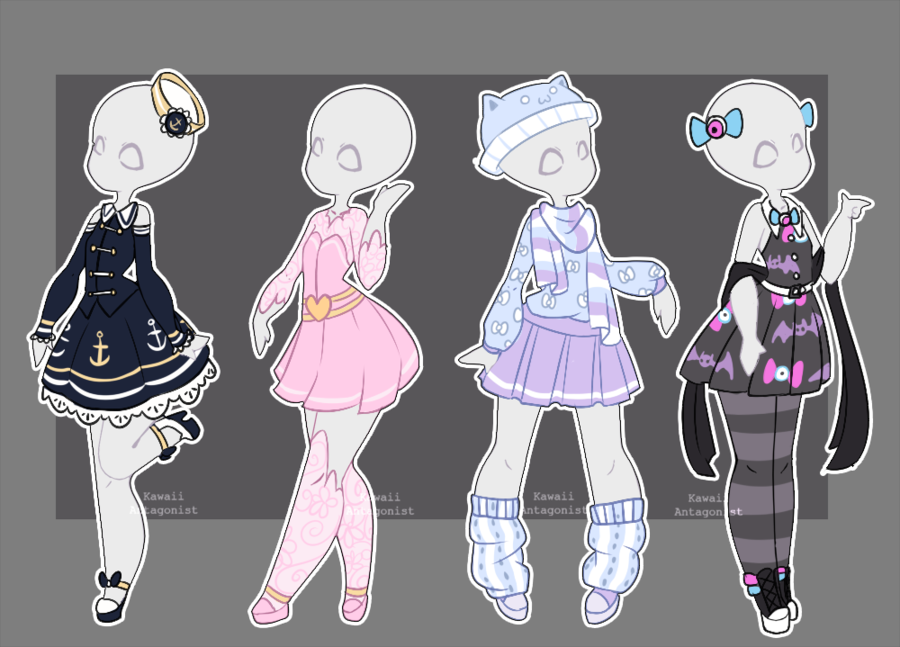 Gacha outfits 16 by kawaii,antagonist.deviantart.com on @DeviantArt. Vêtements  MangaDessin