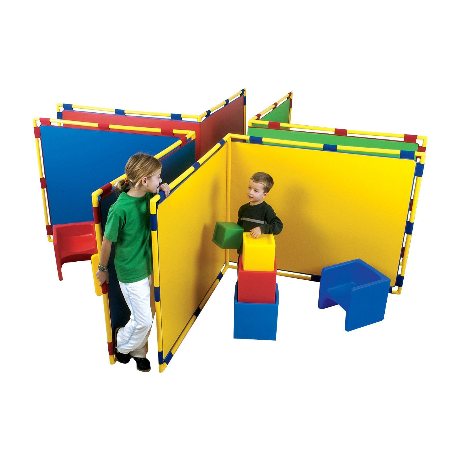 Childrens Factory Big Screen Right Angle Room Divider with Support Legs | from hayneedle.com