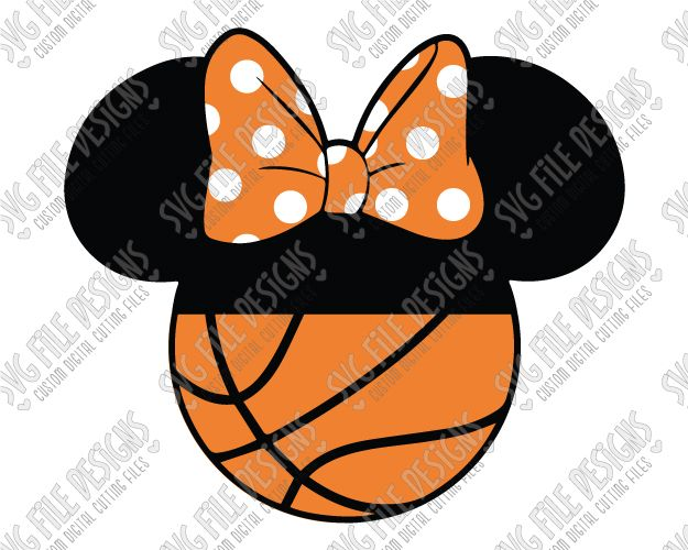 Minnie Mouse Basketball Cut File Set in SVG, EPS, DXF, JPEG