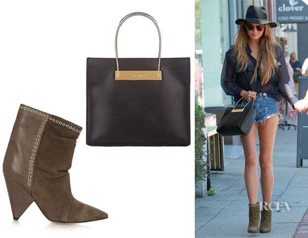 Chrissy Teigen's Balenciaga Cable Shopper And Isabel Marant 'Lance ...