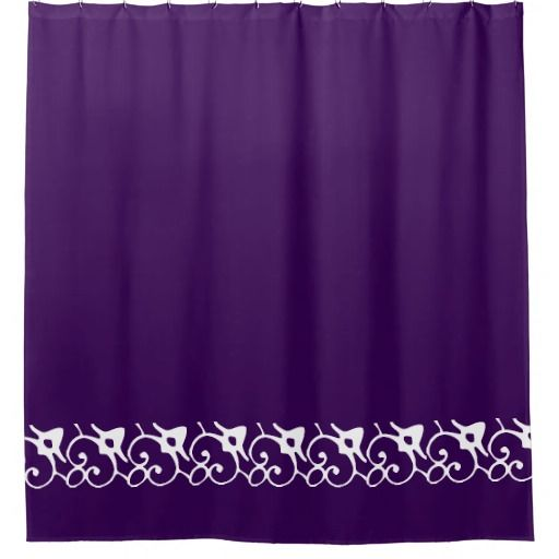 Ornate Decor Solid Deep Royal Purple Bathroom Home Shower Curtain An ...