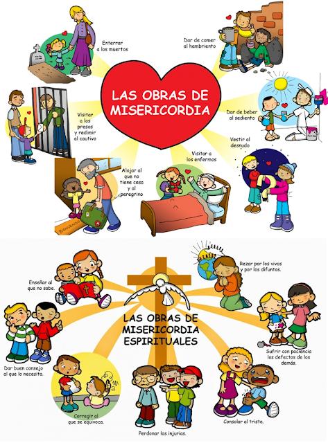 Obras De Misericordia Y Oración Por La Misericordia Un Paso Al Día En 2020 Oraciones Para Niños Niños Católicos Educación Religiosa