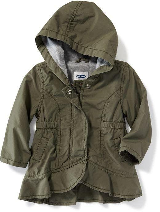 47fbedeee Hooded Peplum-Hem Utility Jacket for Baby