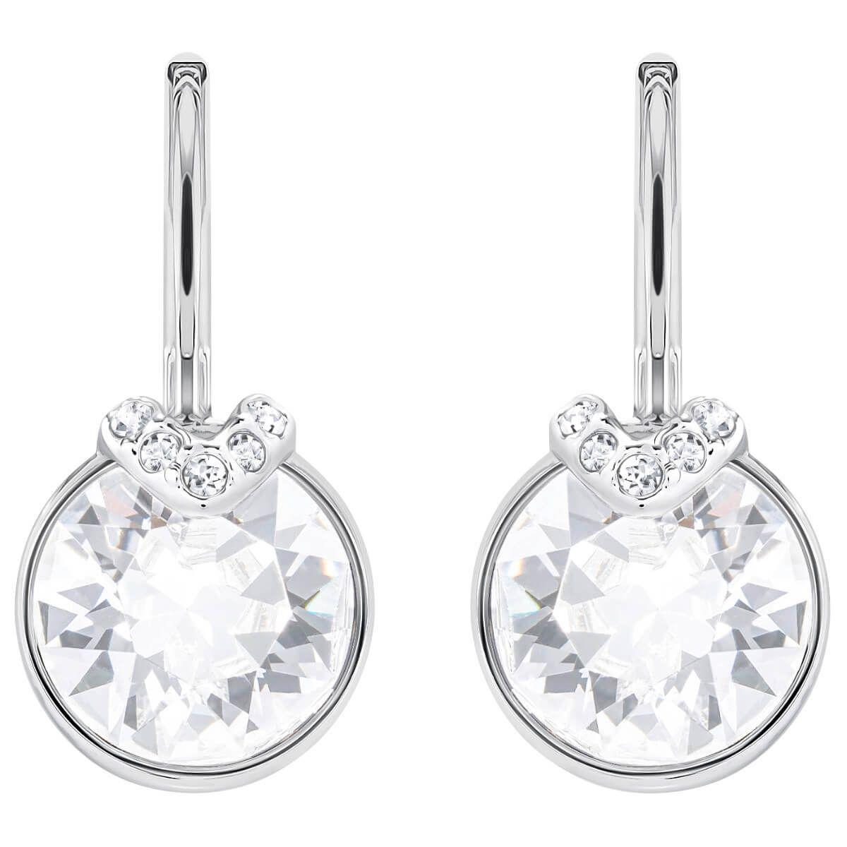 6ff3e0d1a Bella V Pierced Earrings, Gray, Rose gold plating | Birthday ...