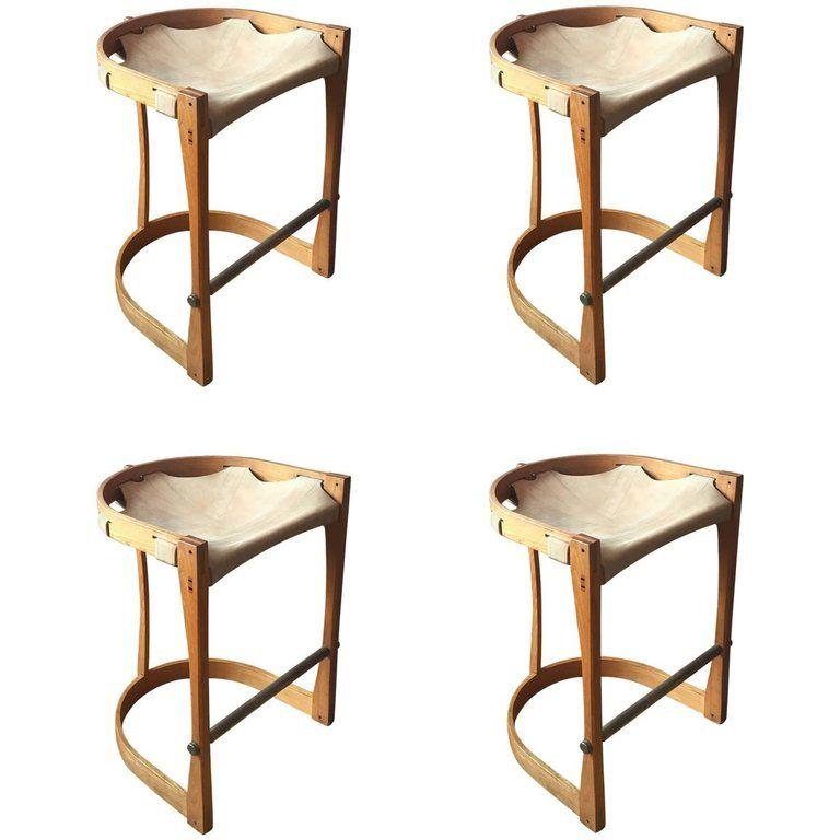 Strange Set Of Four American Studio Craft Counter Stools Furniture Beatyapartments Chair Design Images Beatyapartmentscom