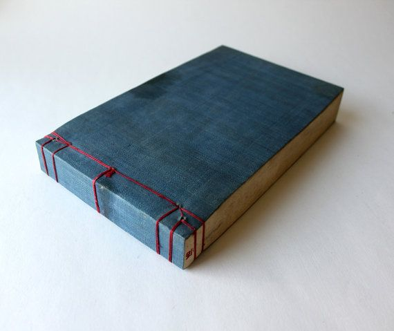 Vintage Chinese Blue Stab Binding Sewn With Red Thread