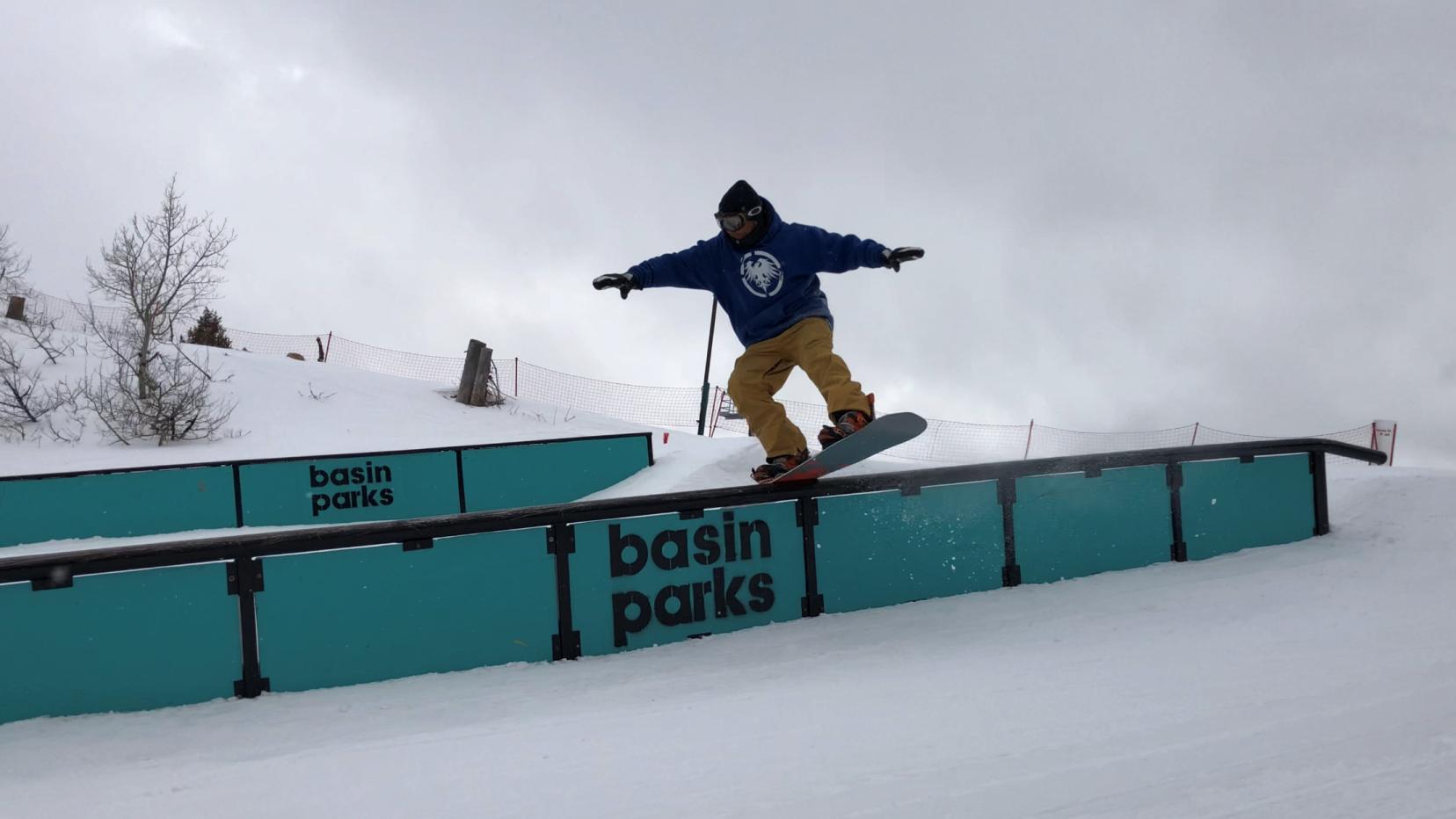 Hitting One Of The Rails In The Blue Grouse Terrain Park Basinparks Terrain Park Park S