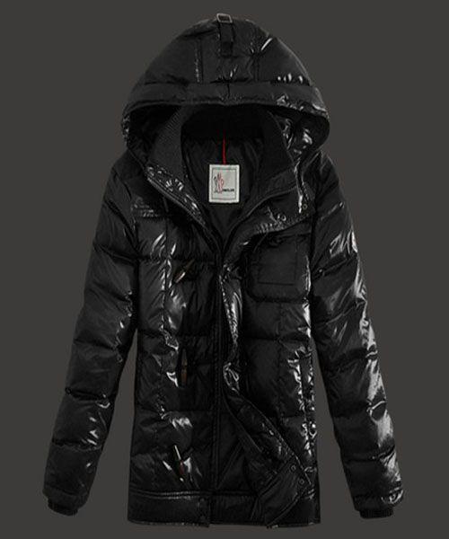 France Moncler Virgile Mens Down Jackets Hooded Black Outlet