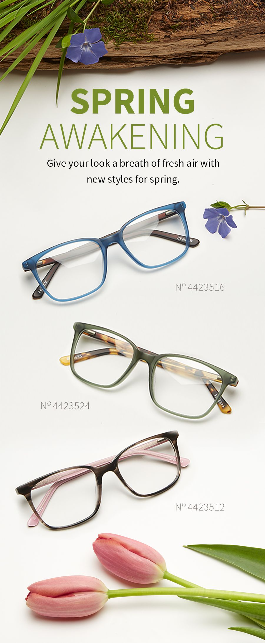 Light on the face, heavy on style. Introducing our new thin acetate ...