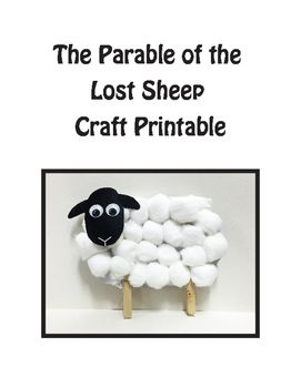 photograph relating to Sheep Craft Printable referred to as Parable of the Misplaced Sheep Craft, Fundamental Bible Craft