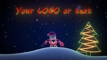 Neon Santa After Effects Template Neon Christmas Neon Signs