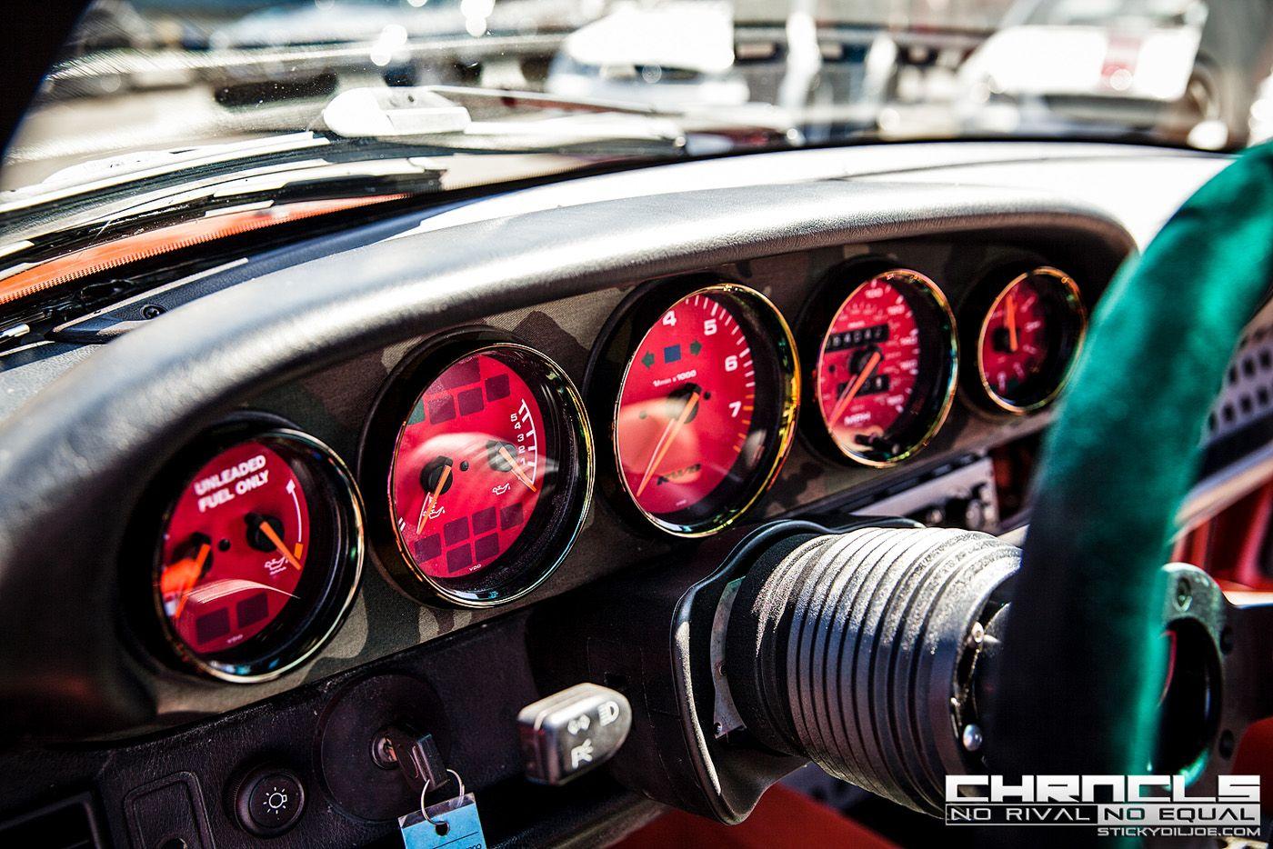 Custom red RWB dials | Porsche gauges | Porsche 911 964