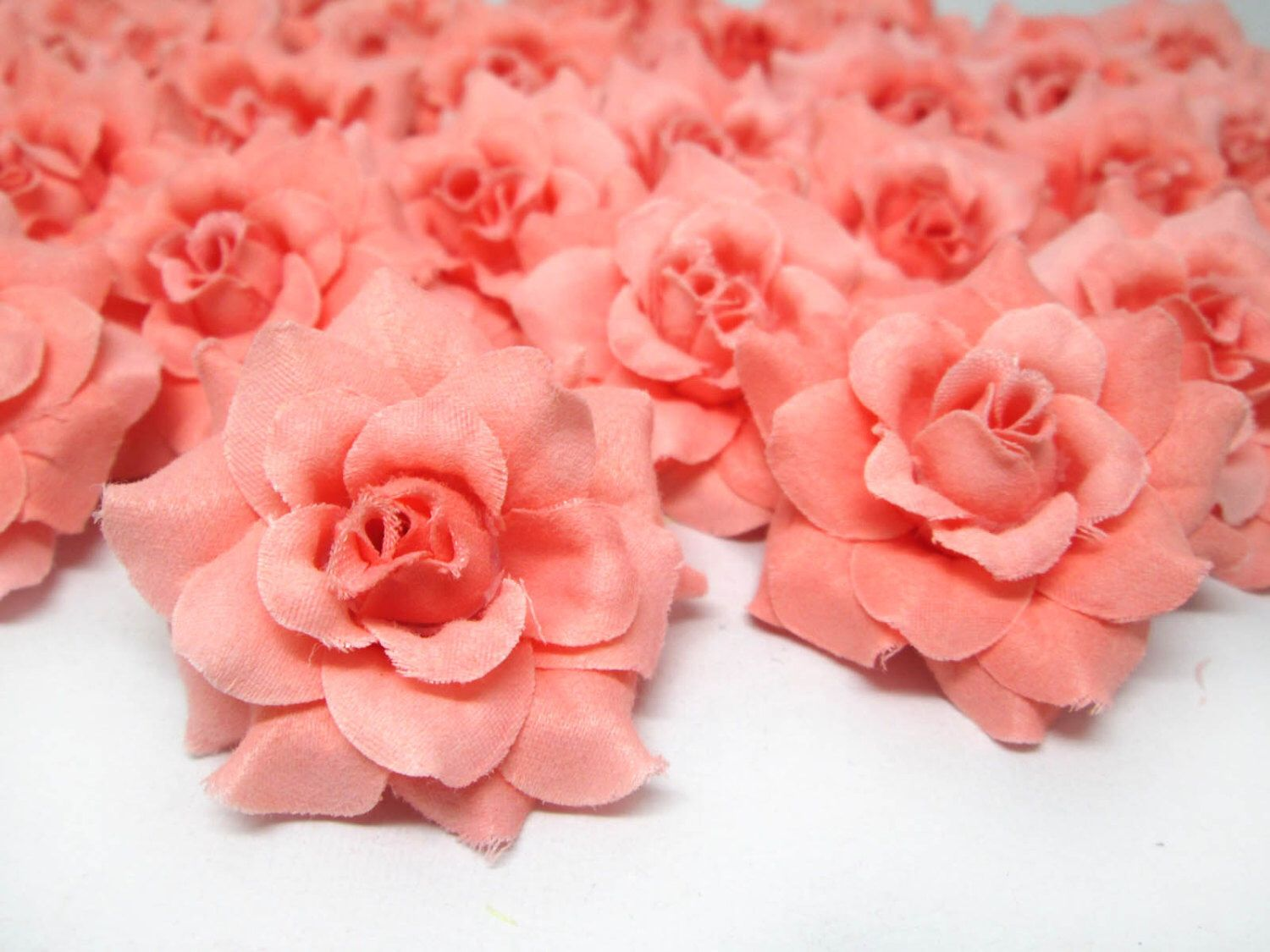 24 Orose Mini Roses Heads Artificial Silk Flower 175 Inches