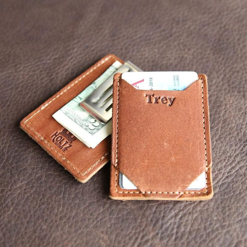 The Trey Money Clip Front Pocket Fine Leather Wallet