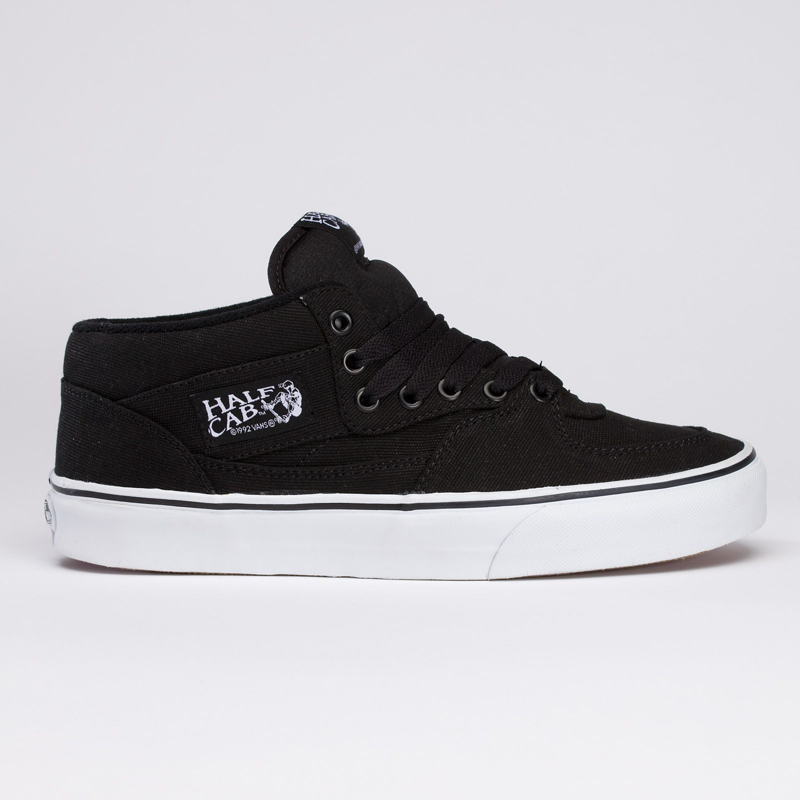e4a2da34c8b387 vans half cab 14oz. black canvas