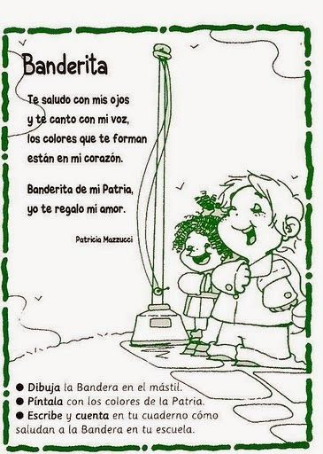 Escanear0025 1 Jpg 365 512 Texto Instructivo Para Ninos Poema De La Bandera Poesia Para Ninos