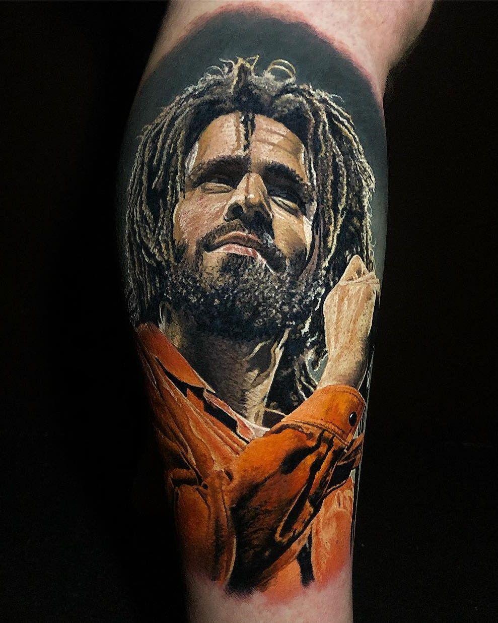 Pin by richard abq on reality tattoos j cole tattoos