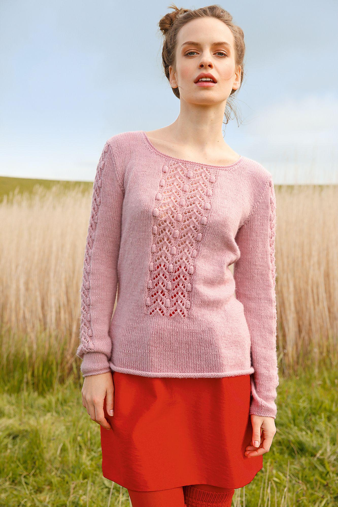 Pullover mit Lochstreifen | Stricken Kleidung | Pullover