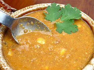 Soy Chorizon Corn Chowder from To Serve Vegetarians.  I like this chorizo pretty much any way you use it.