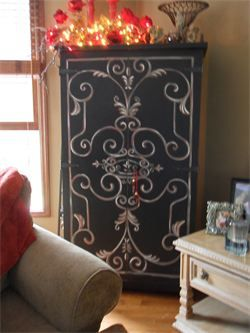 Great Way To Dress Up An Old Cabinet Door Whimsical Walls Murals For Mom And Dad Neenah Wi