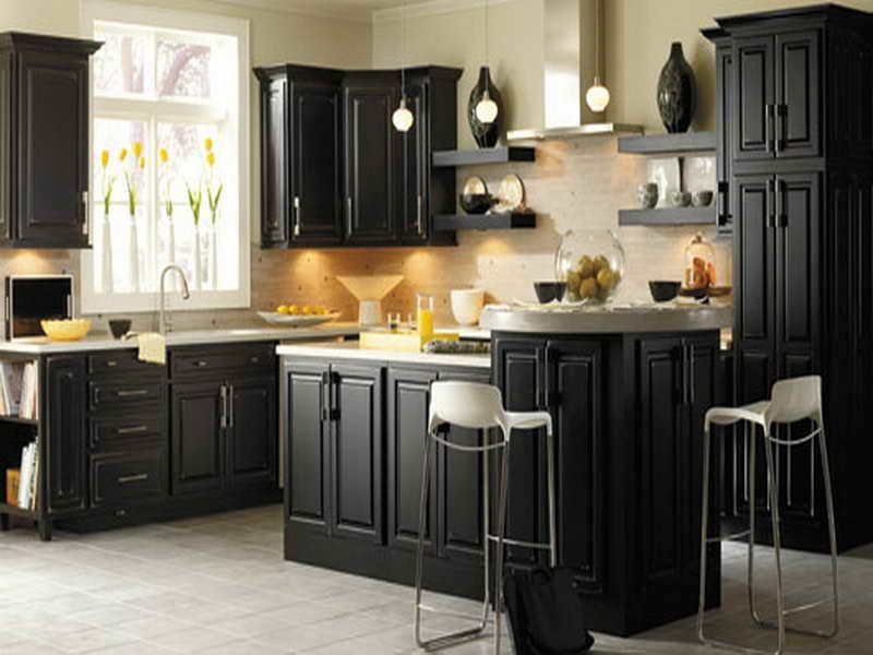 Kitchen Cabinet Makeovers Dark Color