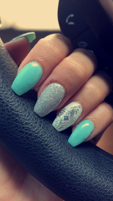 Best 20 Aqua Nails Ideas On Pinterest Teal Acrylic Nails