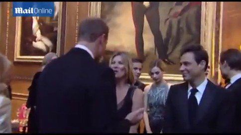 Pin for Later: Kate Moss Flirts With Prince William, Because Life Is About Taking Chances