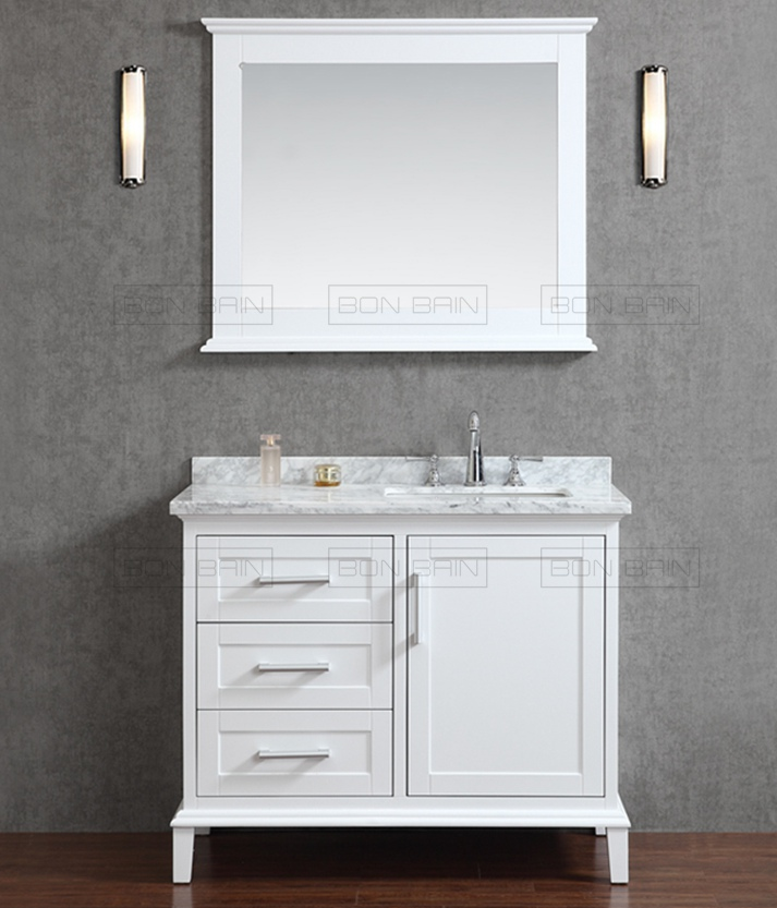 Un Meuble Lavabo A L Americaine Avec Un Design Contemporain Https Www Bon Bain Com Produit White Vanity Bathroom Single Bathroom Vanity Bathroom Sink Vanity