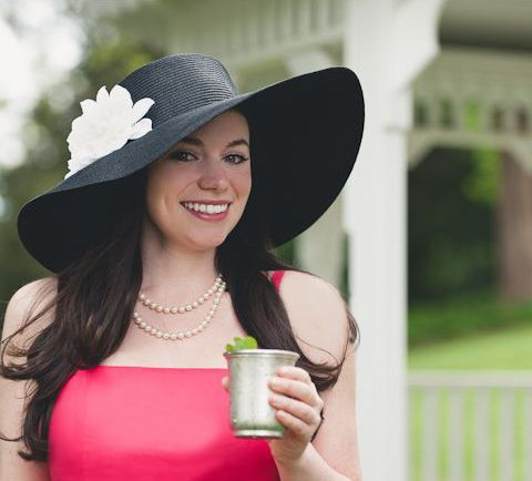 2c1ce5501285b Here's a trick that turns a beach hat into a Derby Day hat in a hot minute  from the pros at DIY Network.