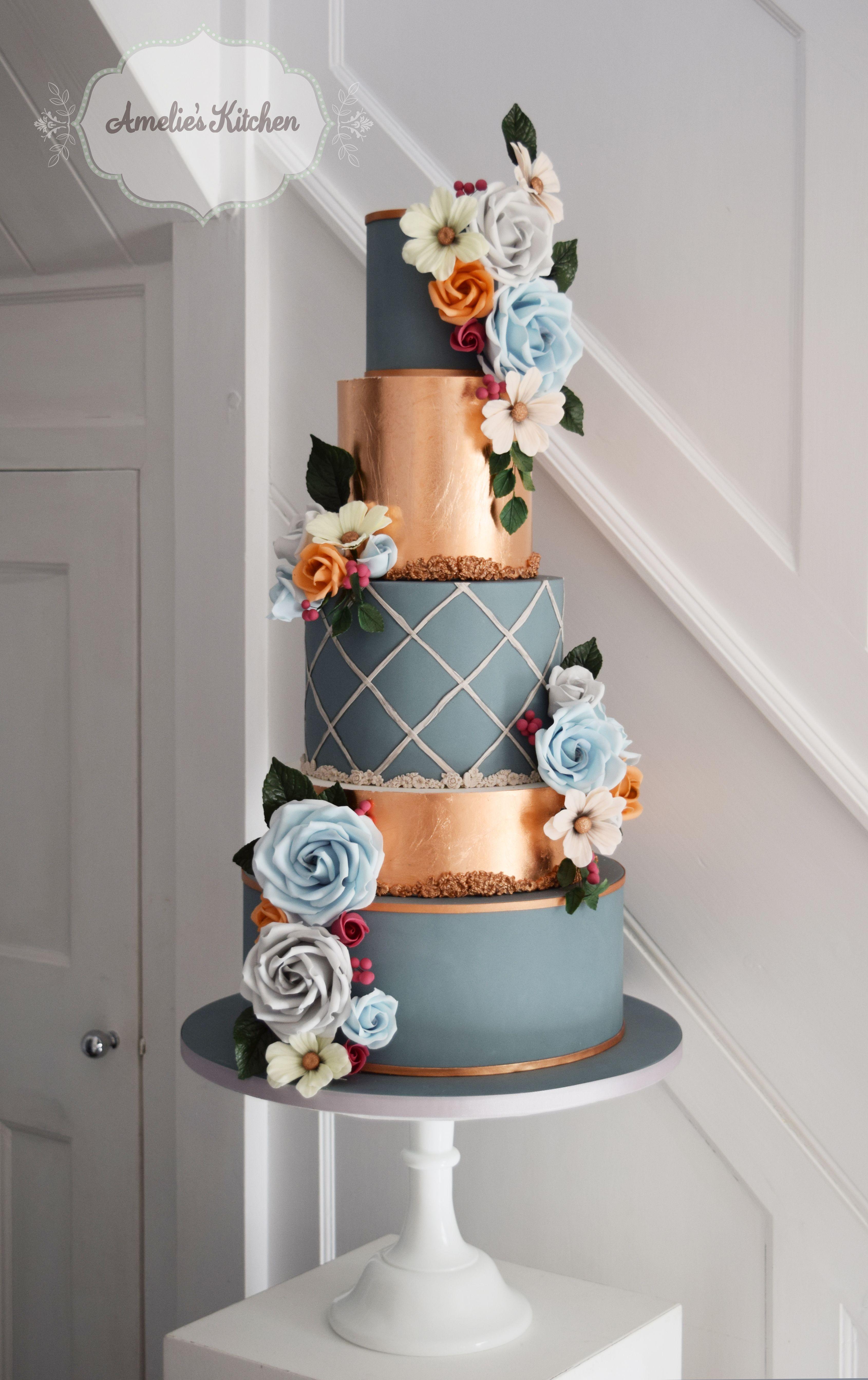 Wedding cake design for the squires exhibition decorativecakes