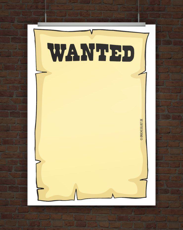 kostenlose vorlage wanted plakat  kostenlose vorlagen