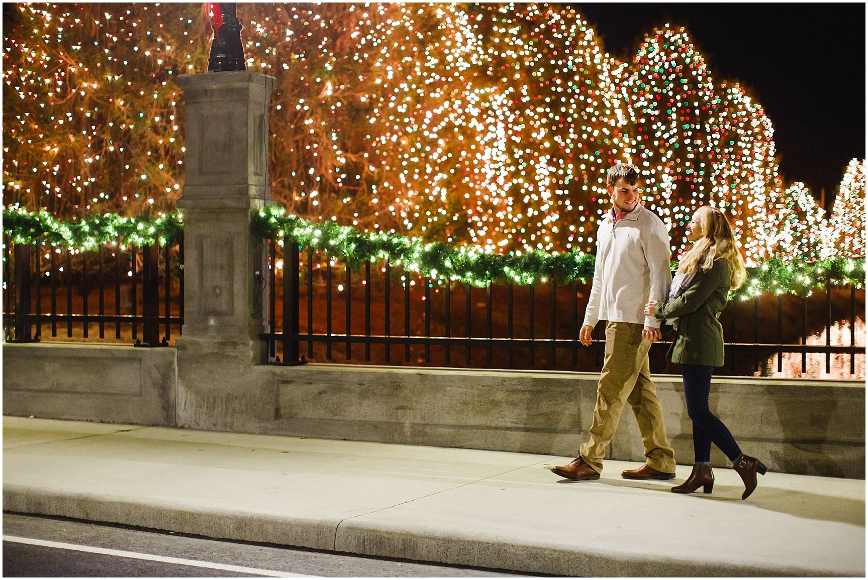 Mcadenville Christmas Lights.Mcadenville Nc Christmas Town Usa Engagement Julia Fay