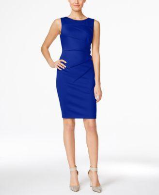 Calvin Klein Starburst Sheath Dress In Ultramarine Calvin Klein Blue Dress Dresses For Work Work Dresses For Women