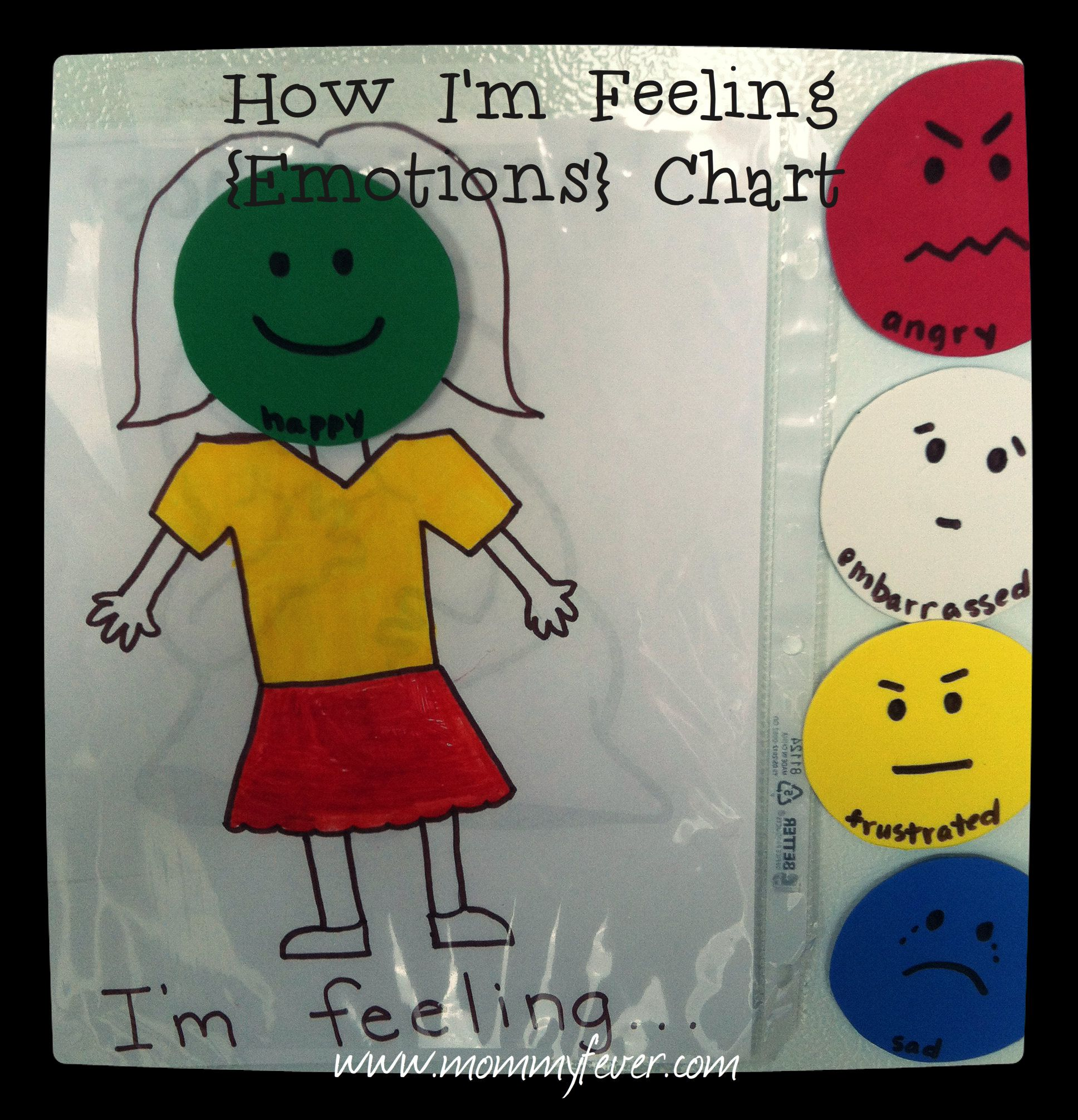 Diy How I M Feeling Emotions Chart