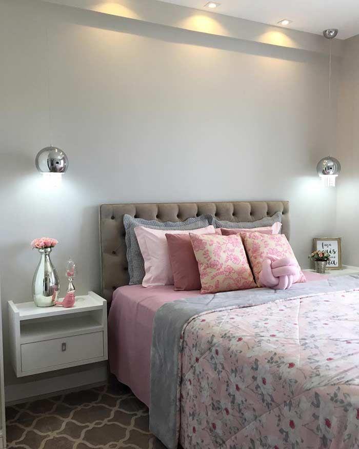Quarto feminino simples Apartamentos em 2019 Quartos, Quarto simples e Decoraç u00e3o quarto  -> Decoração De Apartamento Simples E Bonito
