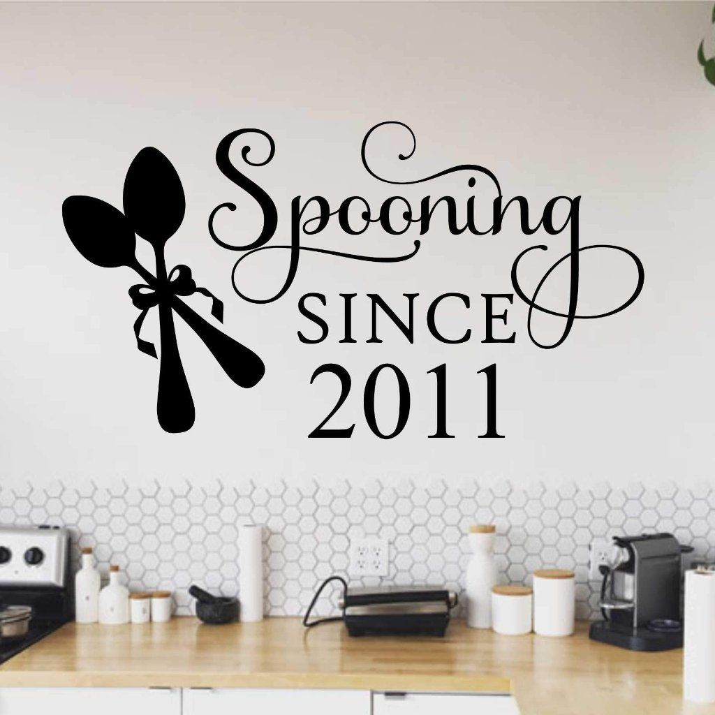 custom wall decal spooning year romantic kitchen lettering custom wall decal kitchen decor on kitchen decor quotes wall decals id=37615