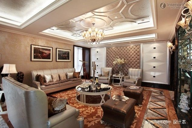 Fascinating european living room ceiling design rich for European living room designs